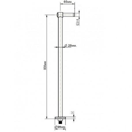Колонны для напольного смесителя Magliezza 938-cr (хром)