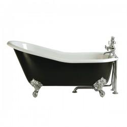 Ванна Magliezza Gracia Nero 170x76 (ножки хром)