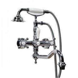 Смеситель на ванну Magliezza Classico 50606-4-cr в комплекте с лейкой TL-4-cr