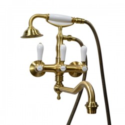 Смеситель на ванну Magliezza Bianco 50605-4-br в комплекте с лейкой TL-4-br
