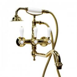 Смеситель на ванну Magliezza Bianco 50605-3-do в комплекте с лейкой TL-3-do