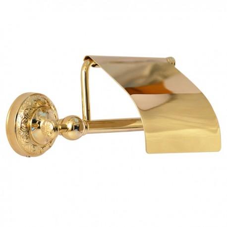 Закрытый бумагодержатель Magliezza Primavera 80308-do (золото)
