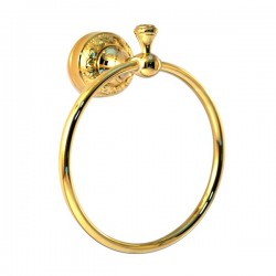 Полотенцедержатель кольцо Magliezza Primavera 80309-do (золото)