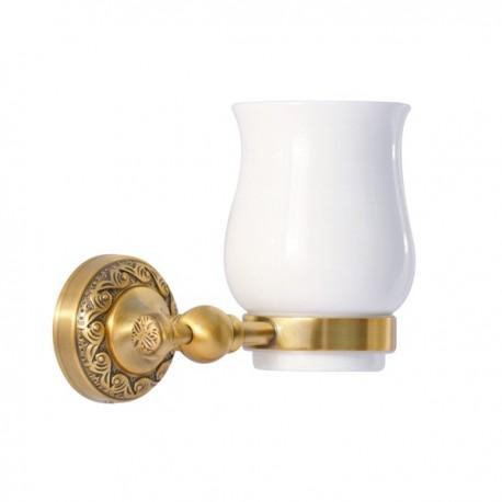 Одинарный стакан Magliezza Primavera 80323-br (бронза)