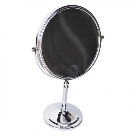 Зеркало косметическое настольное Magliezza Fiore 80106-cr (хром)