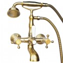 Смеситель на ванну Magliezza Classico 50106-1-br в комплекте с лейкой TL-1-br (бронза)