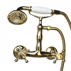 Смеситель для душа Magliezza Classico 50112-3-do в комплекте с лейкой TL-3-do (золото)