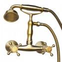 Смеситель для душа Magliezza Classico 50112-1-br в комплекте с лейкой TL-1-br (бронза)