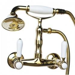 Смеситель для душа Magliezza Bianco 50111-2-do в комплекте с лейкой TL-2-do (золото)