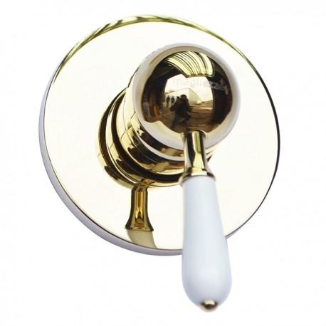 Встраиваемый смеситель для душа Magliezza Grosso Bianco 50133-do (золото)