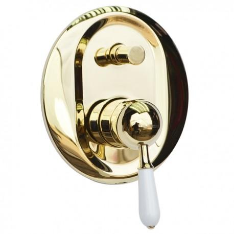 Встраиваемый смеситель для ванны и душа Magliezza Grosso Bianco 50147-do (золото)