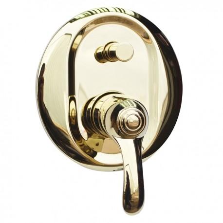 Встраиваемый смеситель с переключателем Magliezza Luce 50145-do (золото)