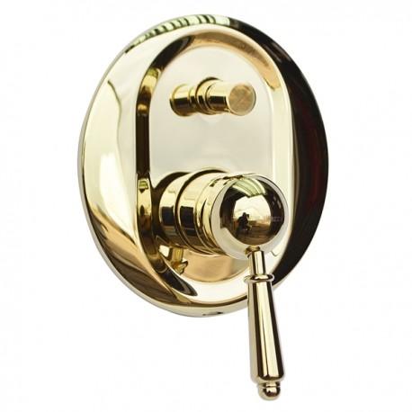 Встроенный смеситель с переключателем Magliezza Collana 50146-do (золото)