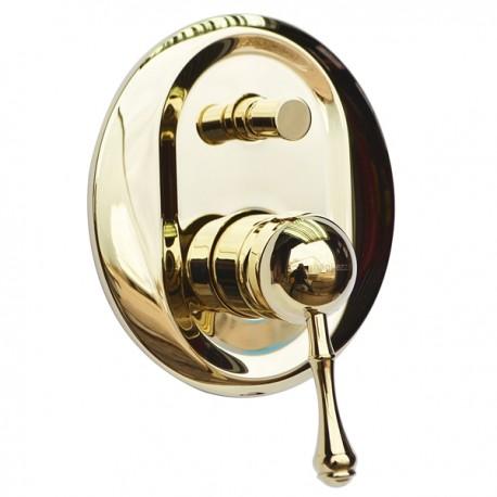 Встроенный смеситель с переключателем Magliezza Vista 50148-do (золото)