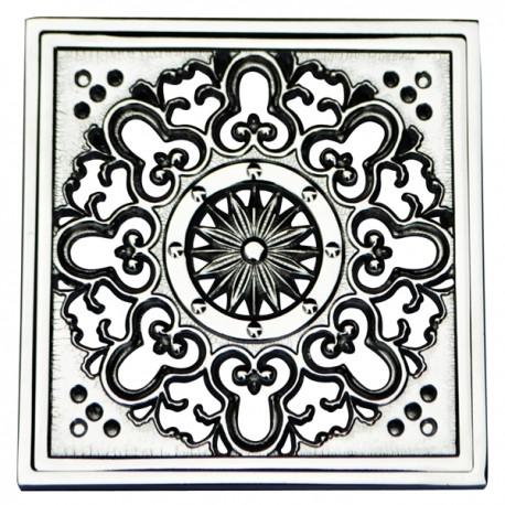 Декоративная решетка для трапа Magliezza 955-cr (хром)