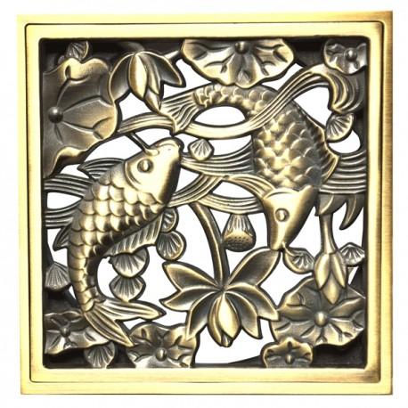 Декоративная решетка для трапа Magliezza 962-br (бронза)
