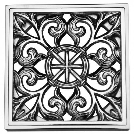 Декоративная решетка для трапа Magliezza 964-cr (хром)
