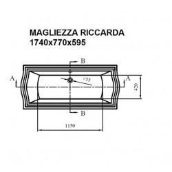 Отдельно стоящая ванна Magliezza Riccarda (174х77), ножки золото
