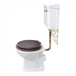 Унитаз напольный Magliezza Retro с бачком на средней трубе, цвет золото