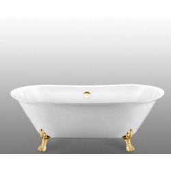 Ванна на лапах Magliezza Ottavia (165х76), ножки золото