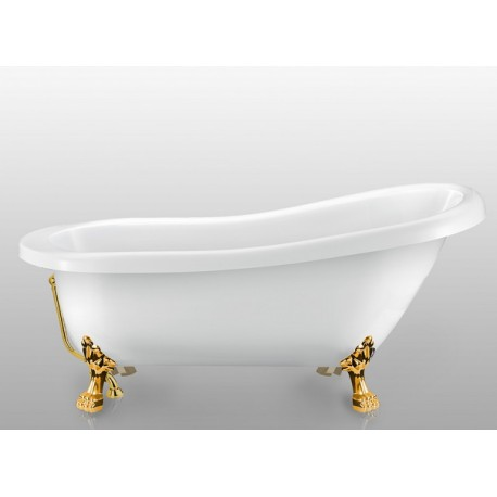 Ванна на лапах Magliezza Alba (168,5х72,5), ножки золото